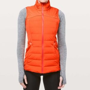 Lululemon Down For It All Vest Orange
